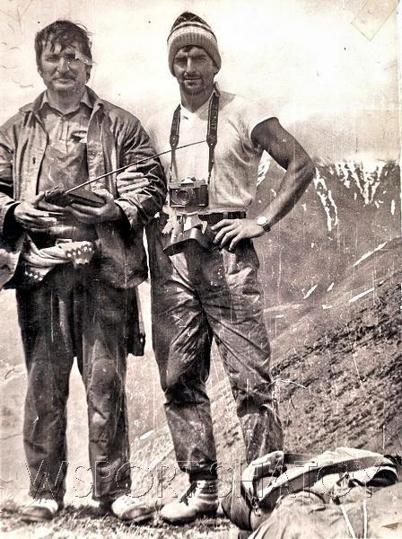 Бауд Ахмадов и Мовлади Абдулаев на вершине Борбало.