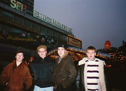 1996г., Германия - Западный Берлин. Руслан Пацаев, Александр Решетников, Муслим Назаев, Вадим Конюхов
